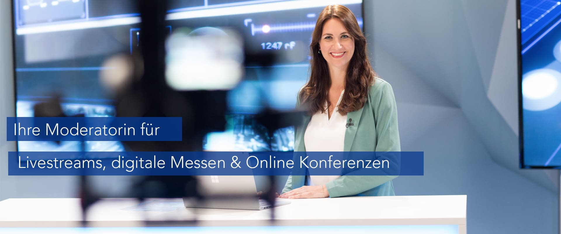 Moderation Livestream, digitale Messe